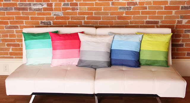 faux pleated pillow v and co